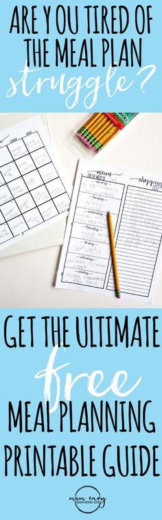 The Ultimate Guide to Meal Planning. Get free fami…