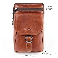 Large Capacity Genuine Leather Vintage Multi-functional Phone Bag Waist Bag Crossbody Bag For Men is hot-sale, many other cheap crossbody bags on sale for men are provided on NewChic. Leather Satchel Handbags, Tote Handbags, Leather Crossbody Bag, Leather Backpack, Men Clutch Bag, Cheap Crossbody Bags, Cute Bags, Vintage Handbags, Bag Sale