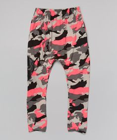 Look at this #zulilyfind! Pink Camo Harem Pants - Infant, Toddler & Girls #zulilyfinds