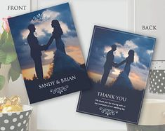 Wedding Thank You Cards Thank You Card Template, Wedding Card Templates, Wedding Thank You Cards, Special Occasion, Wedding Day, Photoshop, Invitations, Words, Creative