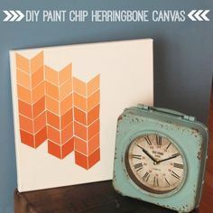 Make a great piece of art for next to nothing -- with just paint chips and an inexpensive canvas!