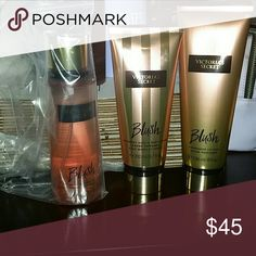 Rare VS blush 3 pack pundle VS bundle mist, fragrance lotion, hand and body cream. Free VS medium undies with purchase. PINK Victoria's Secret Other