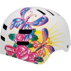 Bell Fraction Kids Helmet White Butterfly