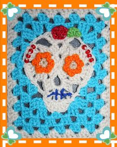 Ravelry: New Skull Applique & Granny Rectangle pattern by Chelsea Craft