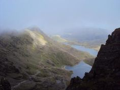 The stunning view from Snowdon Peak- one of the three peaks challenge along with Scafell Pike and Ben Nevis