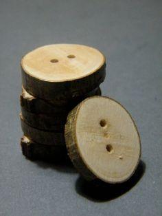 6 Boutons naturels en bois tranché de diamètre par ChorissaHandmade, £4.00