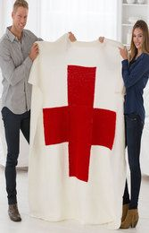 Red Heart Cares Knit Blanket