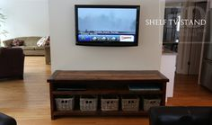 Cambridge, Ontario Reclaimed Wood TV Unit Made by HD Threshing Floor Furniture  www.hdthreshing.com Email directly at rw@table.ca