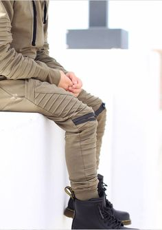 * This listing is only for the joggers! If you would like to purchase the matching hoodie click here https://www.etsy.com/listing/570033387  * Soft and comfortable harem biker joggers  * Functional pockets * Functional matte invisible zippers above the knees. These are fully lined