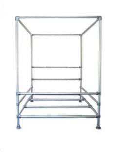 This canopy frame is made with pvc pipe and is the for Cheap ways to make a bed frame