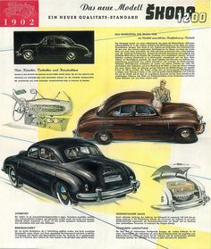 ŠKODA 1200 (1952) Ad Vintage Ads, Vintage Posters, Car Advertising, Old Cars, Transportation, Classic Cars, Bike, Retro, Vehicles