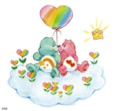 Care Bears - Wish Bear, n Love lots Bear