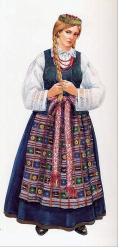 A Lithuanian folk costume.