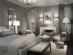 Elegant Transitional Bedroom by Michael Abrams on HomePortfolio