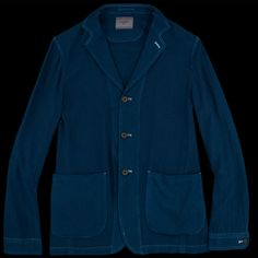 UNIONMADE - UNIONMADE + United Arrows - Soft Twill Three Button Blazer in Navy