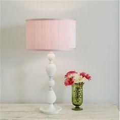 White Milk Glass Lamp