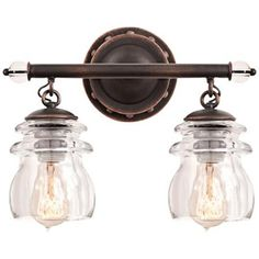 "Brierfield 13 1/4"" Wide Antique Copper Bath Light -"