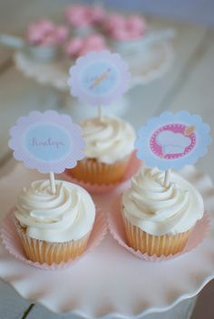 Baking Themed Birthday Party Cupcake Toppers #bakingparty #baking