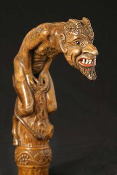 Hand Carved Walking Sticks, Walking Sticks And Canes, Wooden Walking Sticks, Walking Canes, Wood Sculpture, Sculptures, Custom Canes, Cane Handles, Cane Stick