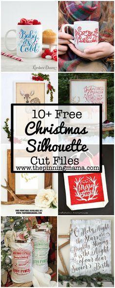 10+ Free Christmas Silhouette Cut Files | www.thepinningmama.com