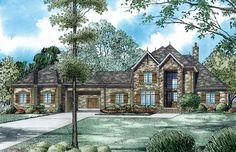 French Country House Plan with 4949 Square Feet and 4 Bedrooms from Dream Home Source | House Plan Code DHSW076742