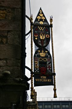 The Witchery Pub sign - Edinburgh, Scotland a must see for me