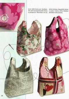Couture à la maison - Sewing at home: Sac réversible pour les commissions ou les livres... Tuto