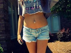 Anchor Belly Button Ring Piercings at MyBodiArt