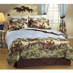guest room Thunder Run Bed In A Bag Set - Western Wear, Equestrian Inspired Clothing, Jewelry, Home Décor, Gifts