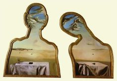 Salvador Dali - Couple with Their Heads Full of Clouds [1936]