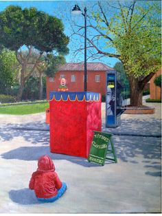 Marioneta en el retiro -oil on canvas- on sale : 400.00€