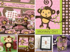 Monkey Girl Baby Shower Theme #BigDot #HappyDot