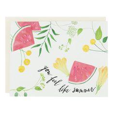 You Feel Like Summer ~ Card