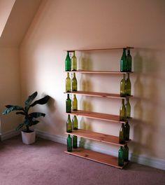convertir botellas de vidrio en decorativas
