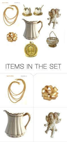 """For the Love of Gold"" by le-vintagegalleria ❤ liked on Polyvore featuring art"
