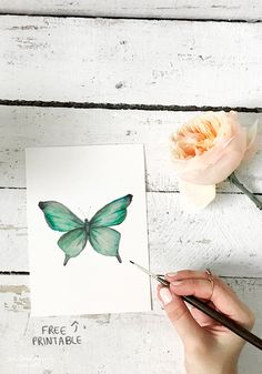Free Watercolor Butterfly Printable