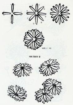 미주 중앙일보 - The Biggest Nationwide Korean-American Newspaper Chinese Painting Flowers, Japanese Ink Painting, Sumi E Painting, Sketch Painting, Chrysanthemum Drawing, Flower Drawing Tutorials, Chinese Drawings, Drawing For Beginners, China Art