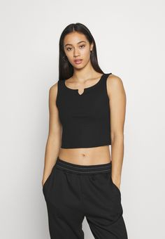 Pieces PCPOPPY TANK 2 PACK - Top - black/white - Zalando.nl Black Tops, Black And White, Short Dresses, Crop Tops, Women, Fashion, Black White, Short Gowns, Cropped Tops