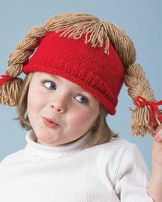 Kids will love these silly hair hat knitting patterns, including separate patterns for boys and girls. Two sizes fit children of 2-8 years in age.