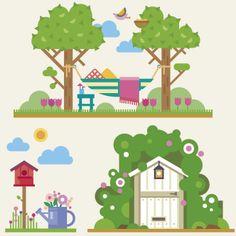 http://www.vectorizados.com/vector/15570_set-primavera/