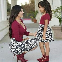 How cute Mommy and  Daughter  Look