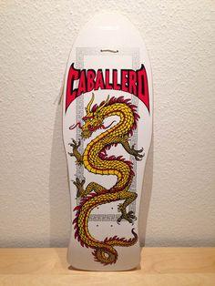 Powell Peralta Caballero Dragon, white dip, yellow dragon, reissue 2006