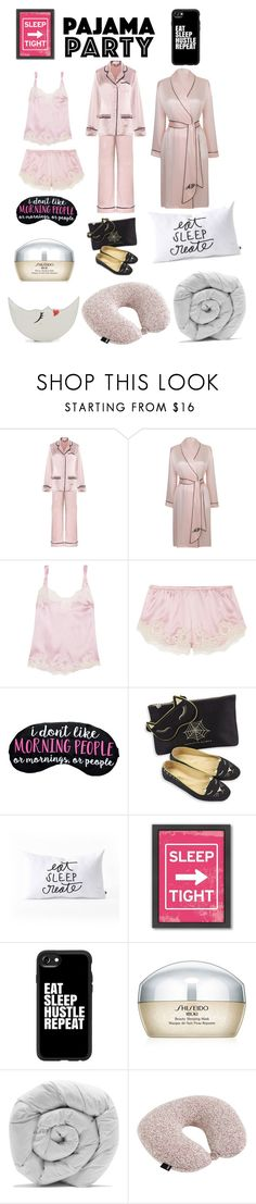"""Eat, sleep, repeat"" by ipekzsuel on Polyvore featuring Olivia von Halle, Agent Provocateur, Dolce&Gabbana, Charlotte Olympia, DENY Designs, Americanflat, Casetify, Shiseido, M&Co and HAY"