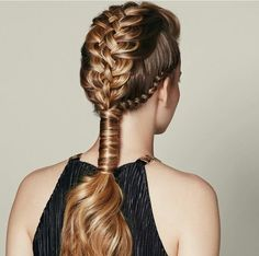 Fancy and Dramatic Braided Tail.