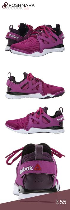 Reebok Women's Z Cut TR 2.0 Training Shoes 6 Internal & external FitFrame for support & a heel strap for an adjustable fit. Lace closure for a secure fit. Adjustable heel strap & NeoFit design for a secure, glove-like fit. New, molded PU sockliner for better arch support, increased cushion & comfort. Zrated foam midsole for a durability with a lightweight, resilient response. MetaSplit flex grooves under the forefoot better flexibility & toe movement. Carbon rubber strategically placed for…