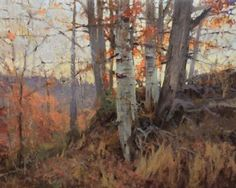 Roger Dale Brown - American / Nashville (active) autumn oil painting trees