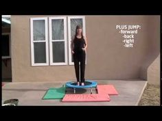 A Fun Mini Trampoline Workout # rebounding exercise with Coach Lucille Brasher Full Body Workout Program, Workout Programme, Ezcema Diet, Mini Trampoline Workout, Cardio Pilates, Rebounding Exercise, Excercise, Baby Fat, No Equipment Workout