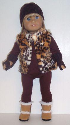 Doll Clothes fits 18 inch American Girl - Body Suit, Vest, Hat, & Mittens #DorisDollBoutique #DollClothes