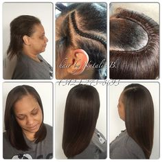 Neatly done...from start to finish! Your sew-in should lay this flat, so that your final results are natural-looking and flawless! ...FLAWLESS SEW-IN HAIR WEAVES by Natalie B. (312) 273-8693...IG: @iamhairbynatalieb ...FACEBOOK: Hair by Natalie B. .....ORDER HAIR: www.naturalgirlhair.com.