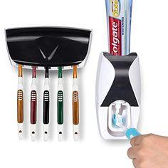 Wash Set automatischer Zahnpasta-Halter /& Zahnb/ürstenhalter Wine Red